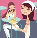 Tea break. Having tea break with friends Vector Illustration