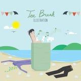Tea Break and employees relax. Vector illustration of tea break and employees relax Stock Images