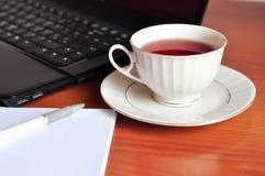 Tea break in office Royalty Free Stock Photo