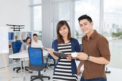 Tea break at office Royalty Free Stock Photography