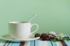 Tea break and relax time. Corner tea break and relax time Stock Photos