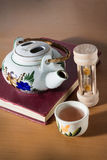 Tea break time,drinking with reading. Stock Images