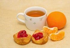 Tea breakfast Stock Photos