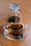 Tea brewed in a cup Royalty Free Stock Photo