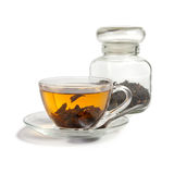 Tea brewed in a cup Royalty Free Stock Photos