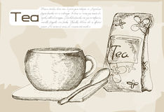 Tea brewed in a cup Stock Images