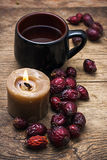 Tea brewed with rose hips Royalty Free Stock Images