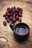 Tea brewed with rose hips Stock Photography