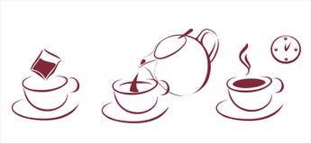 Tea brewing scheme Stock Photos