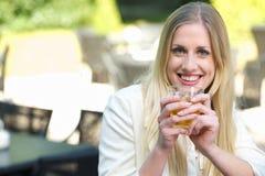 Tea Brings a Smile Stock Photos