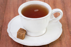 Tea with brown sugar Stock Photo