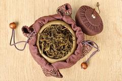 Tea caddy Royalty Free Stock Image