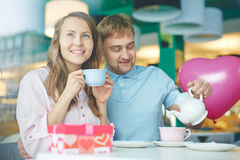 Tea in cafe Stock Image
