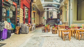 Tea cafe passage in Istanbul. royalty free stock photography