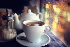 Tea in the cafe Stock Photography