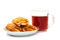 Tea and cake Royalty Free Stock Images