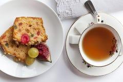 Tea and cake Stock Image