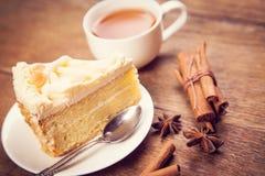 Tea with cake Stock Image