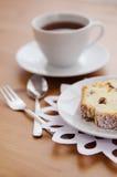 Tea with cake Royalty Free Stock Photos