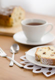 Tea with cake Stock Photography