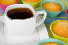 Tea  and cakes Stock Images