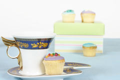 Tea and cakes Royalty Free Stock Photos