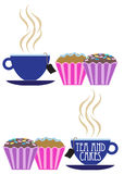 Tea and Cakes Design Royalty Free Stock Photography