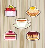 Tea and cakes Stock Photo