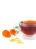 Tea with calendula Stock Images