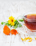 Tea with calendula Royalty Free Stock Photography