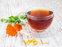 Tea with calendula Royalty Free Stock Photo