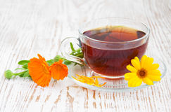 Tea with calendula Royalty Free Stock Photo