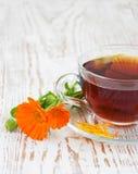 Tea with calendula Royalty Free Stock Images