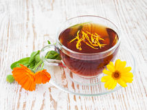 Tea with calendula Royalty Free Stock Photography