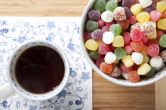 Tea and Candies Stock Photo