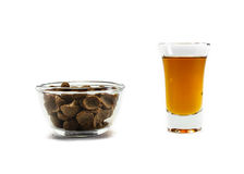 Tea with cereal Royalty Free Stock Images