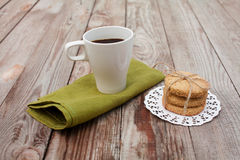 Tea with cereal cookies Stock Image