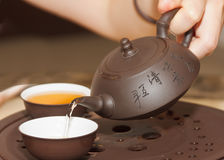 Tea Ceremony. Chinese tea ceremony during the moon cake festival Royalty Free Stock Photography