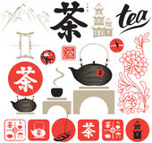 Tea ceremony vector illustration