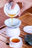 Tea ceremony. The highest realm of art is Zen spirit Royalty Free Stock Photography