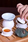 Tea ceremony. The highest realm of art is Zen spirit Stock Photography