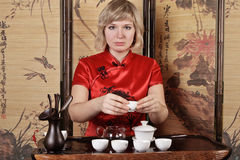 Tea ceremony in asia style Stock Photography