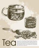 Tea ceremony background Stock Image