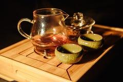 Tea ceremony, brewed hot tea royalty free stock photo
