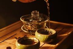 Tea ceremony, brewed hot tea royalty free stock photos