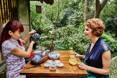 Tea ceremony in Chengdu Sichuan China Stock Photography
