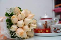Tea Ceremony with flower Stock Photos