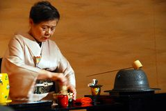 Tea ceremony lady Stock Images