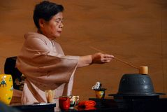 Tea ceremony lady Royalty Free Stock Images