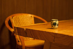 The tea ceremony. Meditation, cultivate one`s morality raises a gender, a cup of green tea Stock Photos